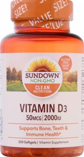 Sundown Naturals Vitamin D3 2000 IU Softgels Perspective: front