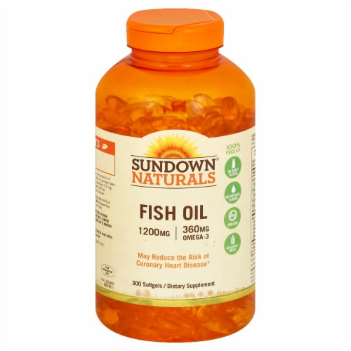 Sundown Naturals Fish Oil Softgels 1200mg Perspective: front