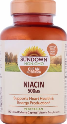 Sundown Naturals Niacin 500 mg Time Release Caplets Perspective: front