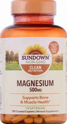 Sundown Naturals Magnesium 500 mg Caplets Perspective: front