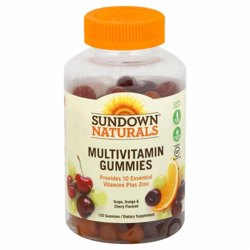 Sundown Naturals Multivitamin Fruit Flavored Gummies Perspective: front