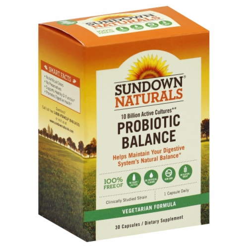 Sundown Naturals Probiotic Balance Vegetarian Formula Capsules Perspective: front
