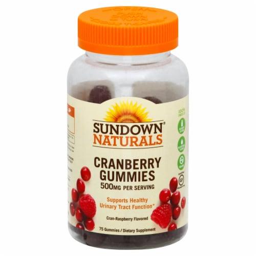 Sundown Naturals Cranberry 500 mg Gummies Perspective: front