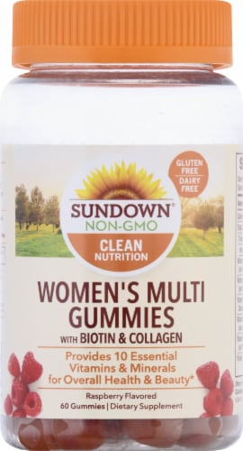 Sundown Naturals Women's Multivitamin Raspberry Flavored Gummies Perspective: front
