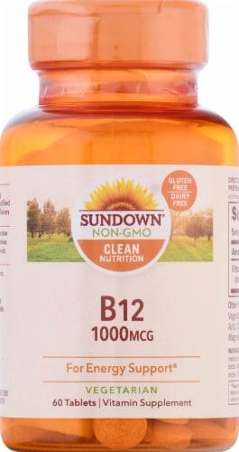 Sundown Naturals B12 1000 mcg Tablets Perspective: front