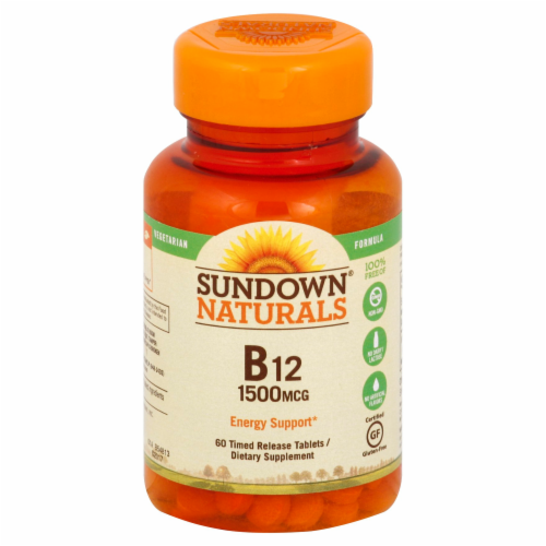 Sundown Naturals B12 Tablets 1500mg Perspective: front