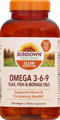 Sundown Naturals Triple Omega 3-6-9 Softgels Perspective: front