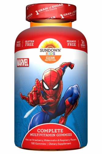 Sundown Kids Spiderman Complete Multivitamin Gummies Perspective: front