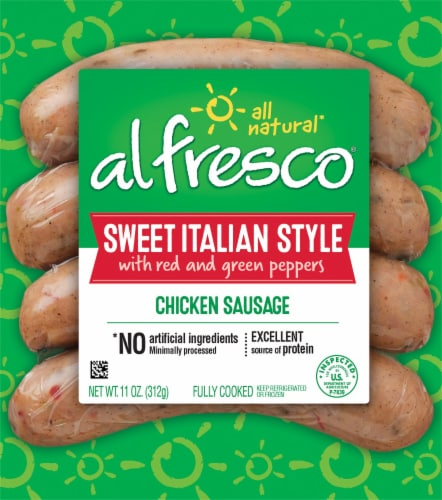 Al Fresco® Sweet Italian Style Chicken Sausage Perspective: front