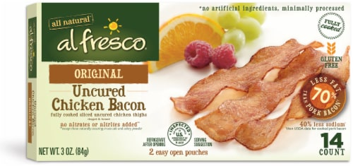 Al Fresco Original Fully Cooked Uncured Chicken Bacon Perspective: front