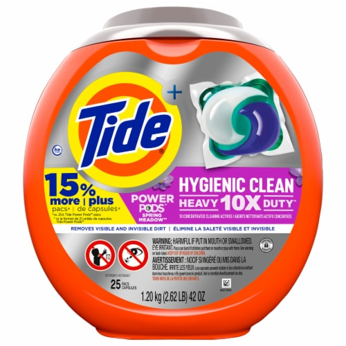 Tide® Hygienic Clean Power Pods™ Spring Meadow Laundry Detergent Pacs Perspective: front