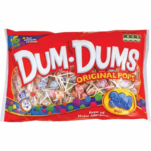 Dum Dums Original Assorted Flavor Lollipops Perspective: front