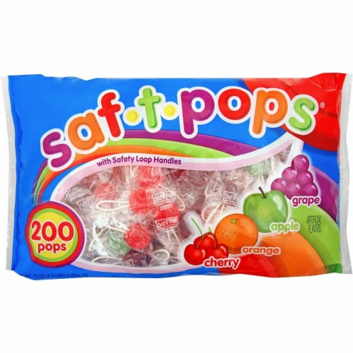 Saf-T-Pops  Candy 182 Perspective: front