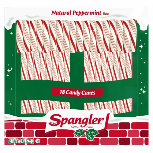 Spangler Peppermint Candy Canes 18 Count Perspective: front