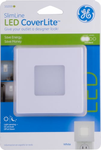 GE SlimLine LED CoverLite Night Light Perspective: front