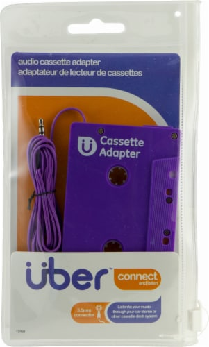 Uber Connect Audio Cassette Adapter - Purple Perspective: front