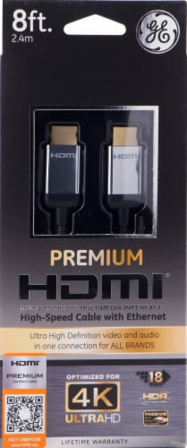 GE Ultra Pro HDMI Cable - Black Perspective: front