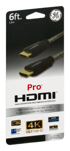 GE Pro HDMI Cable - Gray Perspective: front