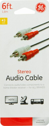 GE Stereo Audio Cable Perspective: front