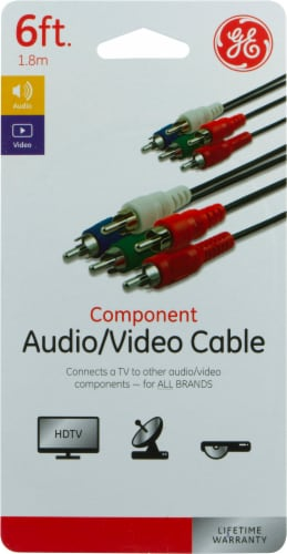 GE Component Audio and Video Cable - Black Perspective: front