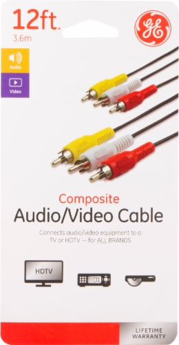 GE Composite Audio & Video Cable Perspective: front