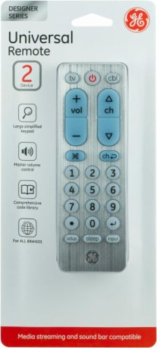 GE Designer Series 2 Device Universal Remote Control - Silver Perspective: front
