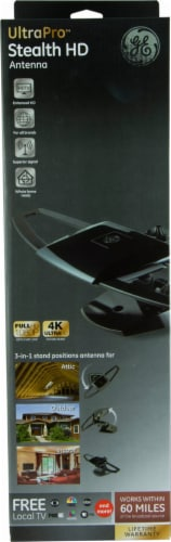 GE UltraPro Stealth HD Antenna - Black Perspective: front