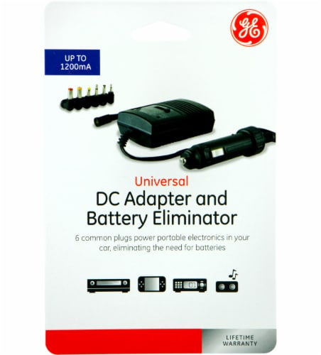 GE Universal DC Adapter and Battery Eliminator - Black Perspective: front