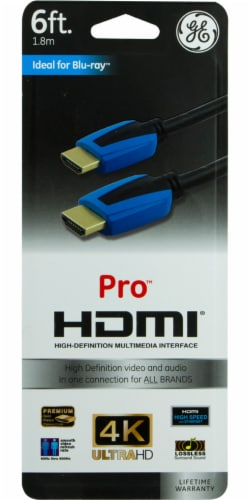 GE Pro HDMI Cable - Black Perspective: front