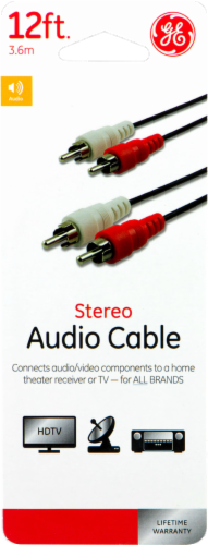 GE Stereo Audio Cable - Black Perspective: front
