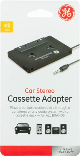 GE Car Stereo Cassette Adapter - Black Perspective: front