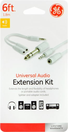 GE Universal Audio Extension Kit - White Perspective: front