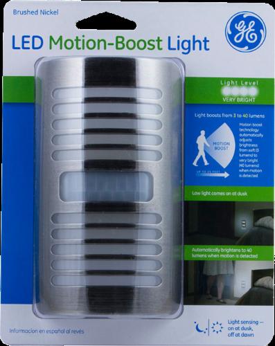 GE LED Motion-Boost Light - Brushed Nickel Perspective: front