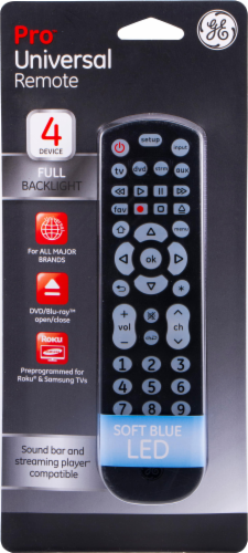 GE Universal Remote Control - Black Perspective: front