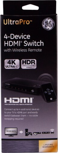 GE UltraPro 4-Device HDMI Switch Perspective: front