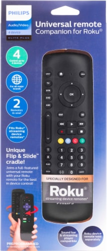 Philips 4 Device Universal Remote Companion for Roku Perspective: front