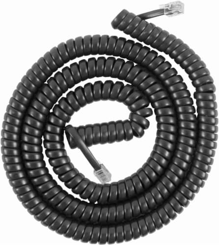 GE Telephone Coil Cord - Black Perspective: front