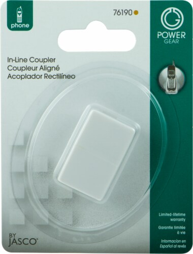 GE In-Line Coupler - White Perspective: front