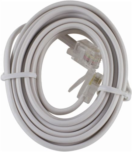 GE Telephone Line Cord  - White Perspective: front