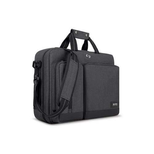 Solo Duane Hybrid Laptop Backpack Briefcase - Gray Perspective: front