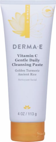 Derma-E Vitamin C Golden Turmeric Ancient Rice Cleansing Paste Perspective: front