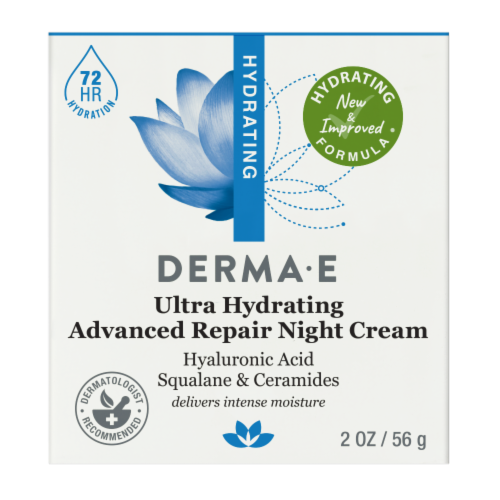 Derma-E Hyaluronic Acid Hydrating Night Cream Perspective: front