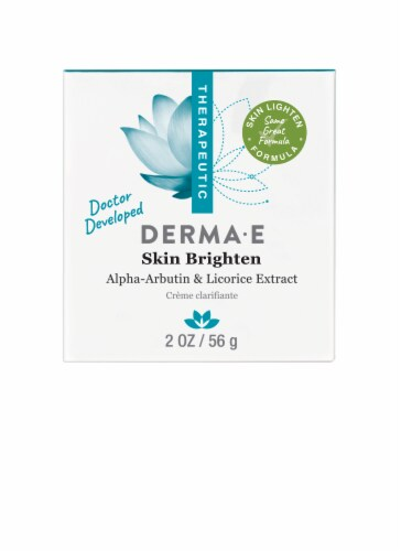 Derma-E Therapeutic Skin Lighten Alpha-Arbutin & Licorice Extract Creme Perspective: front
