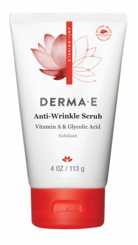 Derma-E Anti-Wrinkle Scrub with Vitamin A & Glycolic Acid Exfoliant Perspective: front