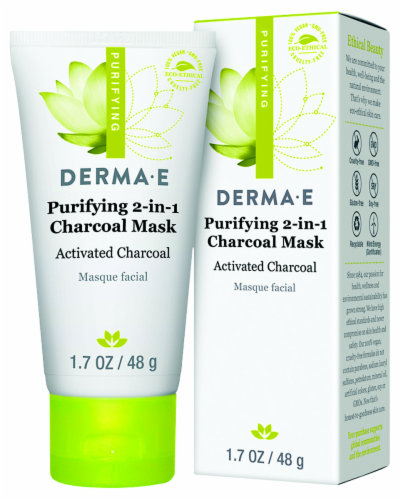 Derma-E Purifying 2-in-1 Charcoal Mask Perspective: front