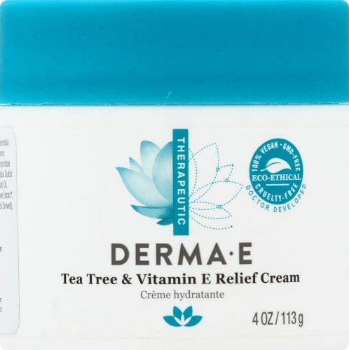 Derma-E Tea Tree & E Antiseptic Creme Perspective: front