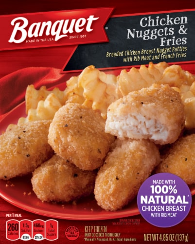 Banquet Chicken Nuggets & Fries Perspective: front