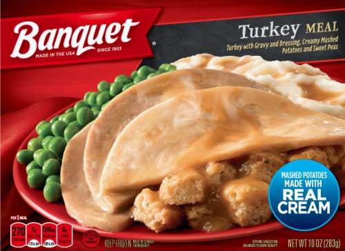Banquet Turkey Meal Perspective: front