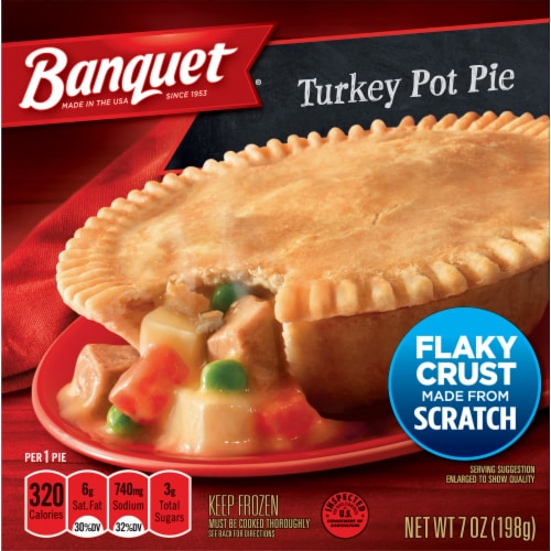 Banquet Turkey Pot Pie Perspective: front