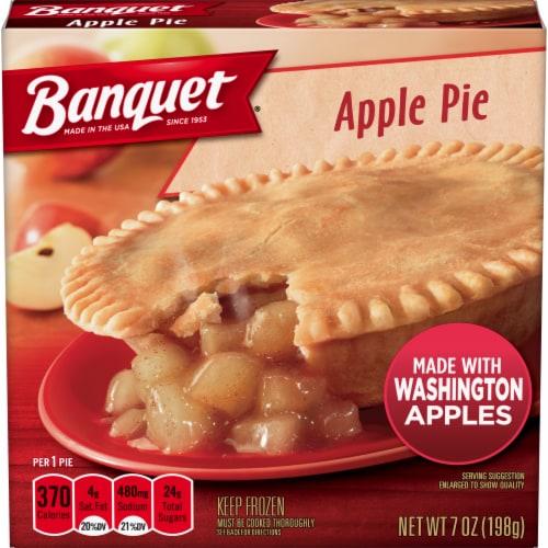 Banquet Apple Pie Frozen Dessert Perspective: front